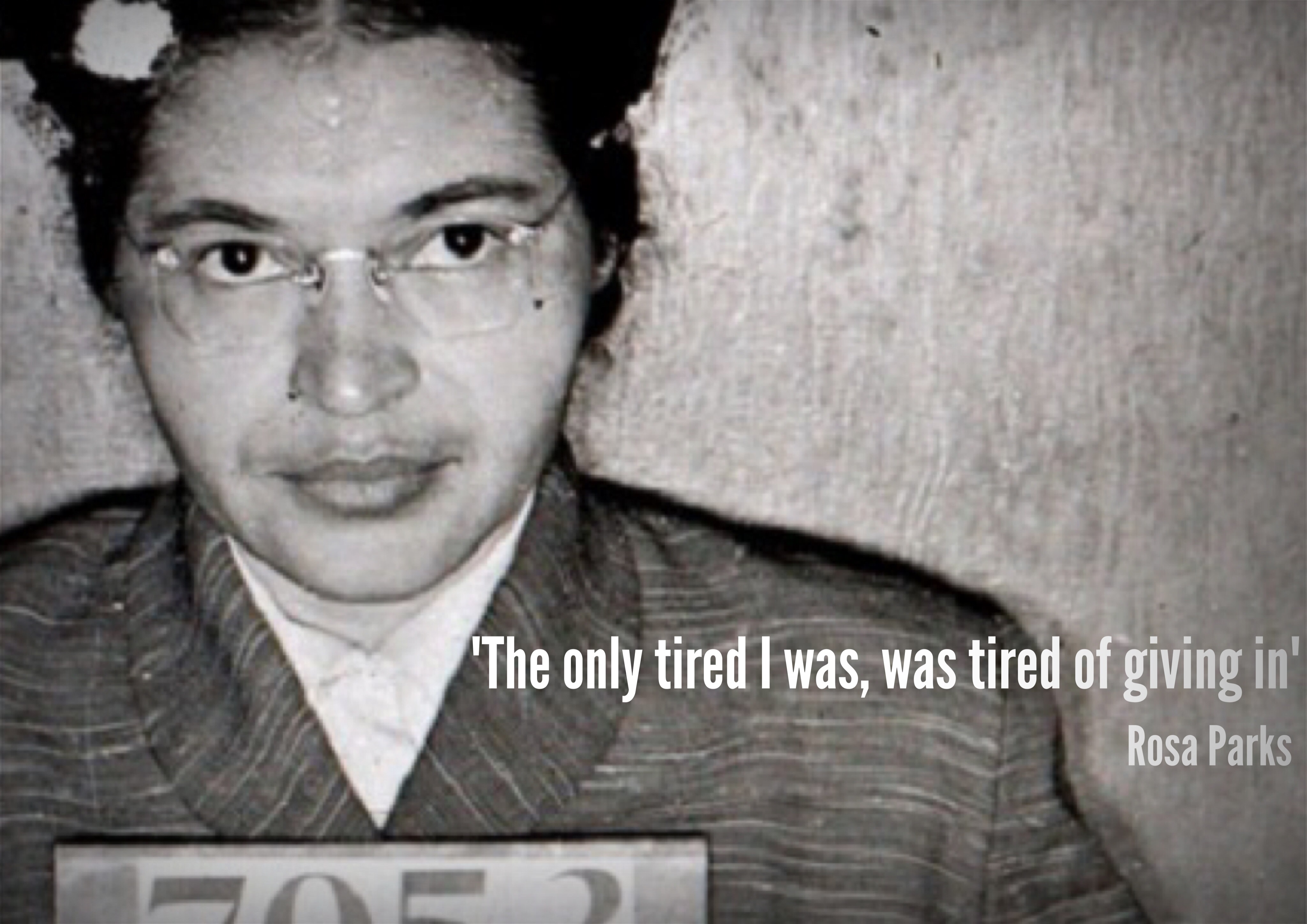 Rosa Parks Tired Quote Poster Jivespin