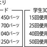 BTS30日カード値上げ