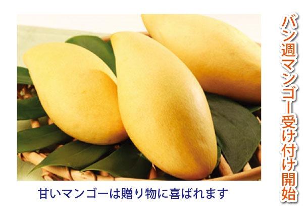 タイ国ナンバーワンの販売実績の「バン週マンゴー」が今シーズンも受付を開始いたします