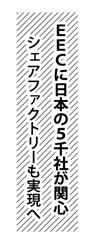 EECに日本の5千社が関心、シェアファクトリーも実現へ