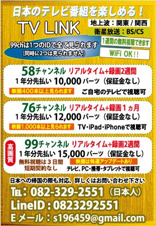 「TV LINK」の広告