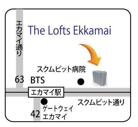 The Lofts Ekkamaiの地図
