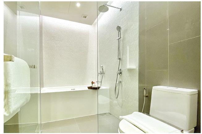 オークウッド・スイーツ・バンコクのバスルーム