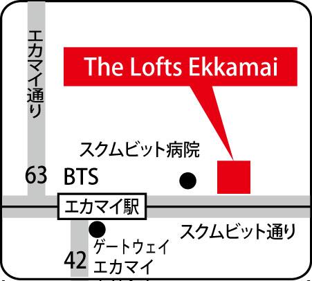 ザ・ロフト・エカマイの地図