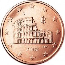 Moeda italiana em 5 euros aromas.