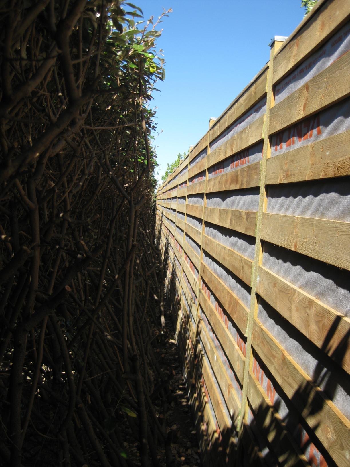 Realisation D Un Ecran Anti Bruit En Bois En 2010 Le Blog De Jjacq