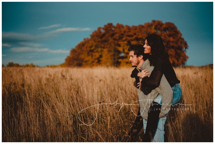 Claire + Sean   Sunset Field Engagement Session   Indiana, PA Photographer