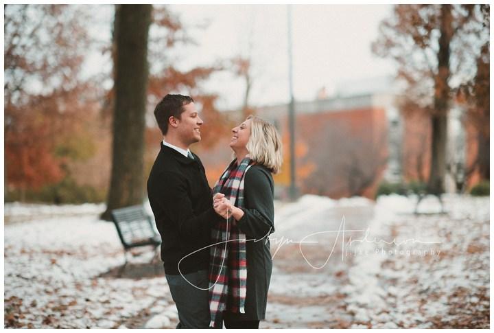 Stephanie + Joel   Snowy Engagement Session   Indiana, PA Photographer