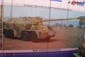 Zuzana Self-propelled 155mm/52cal wheeled gun by BEML-Konstrukta Defence