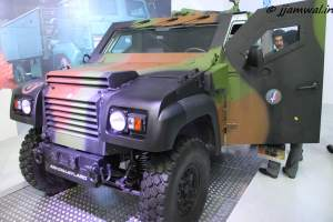 COLT 4x4 Light Tactical Vehicle,  jointly developed by Ashok Leyland Defence and Panhard General Defense