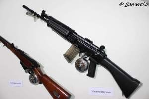 INSAS 5.56mm assault rifle and 0.315 sporting rifle