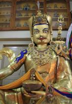Padmasambhava idol in Tsuglagkhang temple