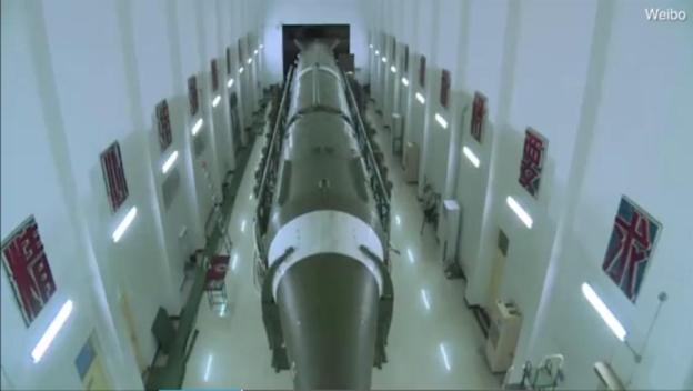 DF-21 Missile inside a missile storage base
