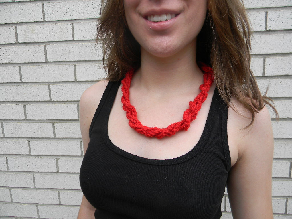 Twisted Crochet Necklace Pattern Free Pattern Friday