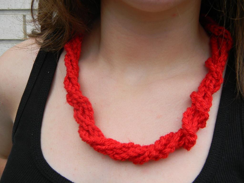 Twisted Crochet Necklace Pattern Free Pattern Friday