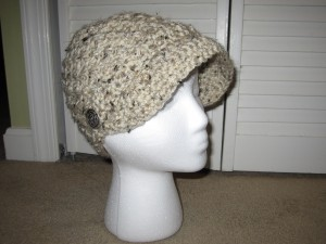 JJCrochet's crochet newsboy hat pattern