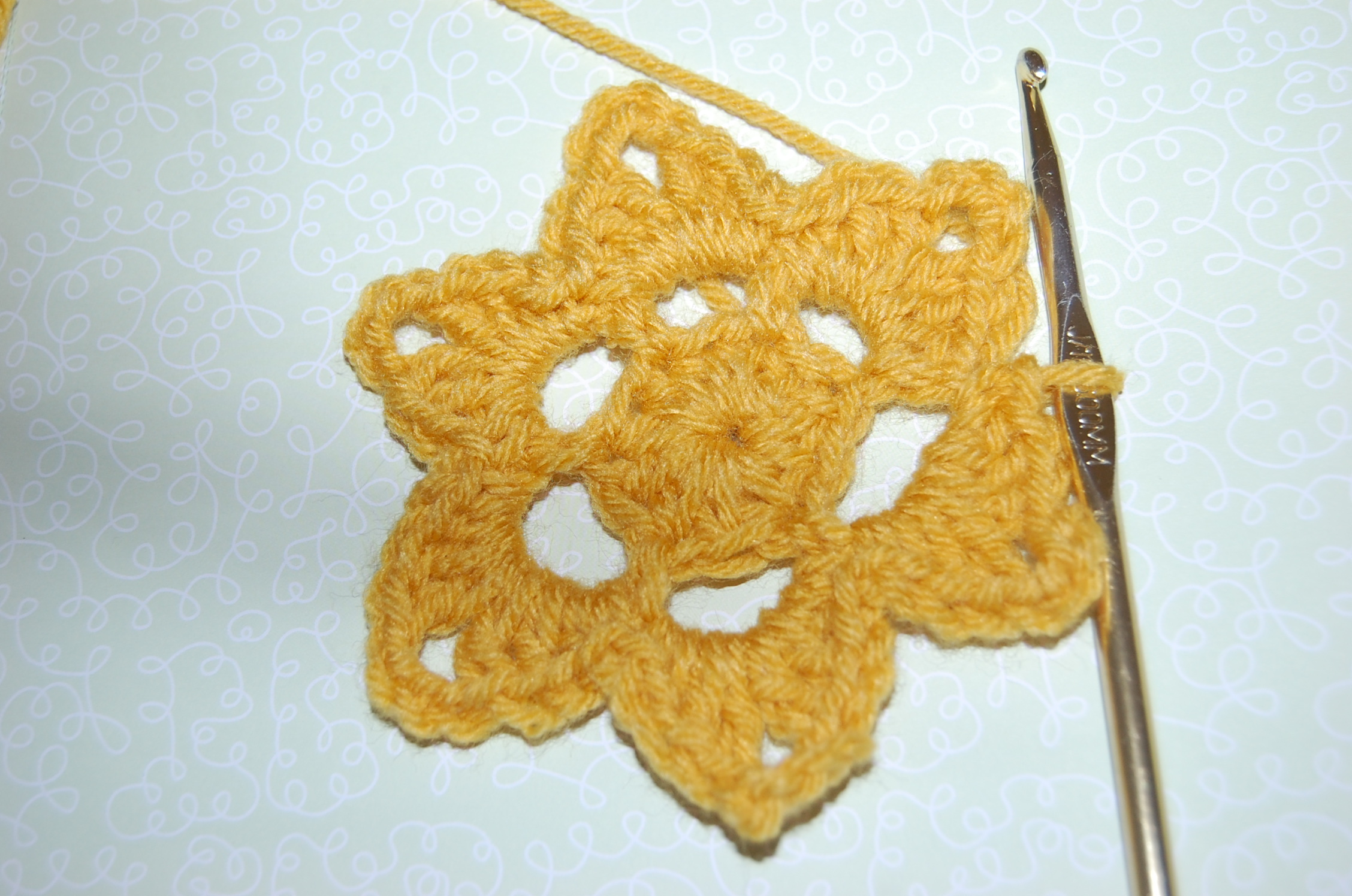 Crochet Flower Star Pattern Free