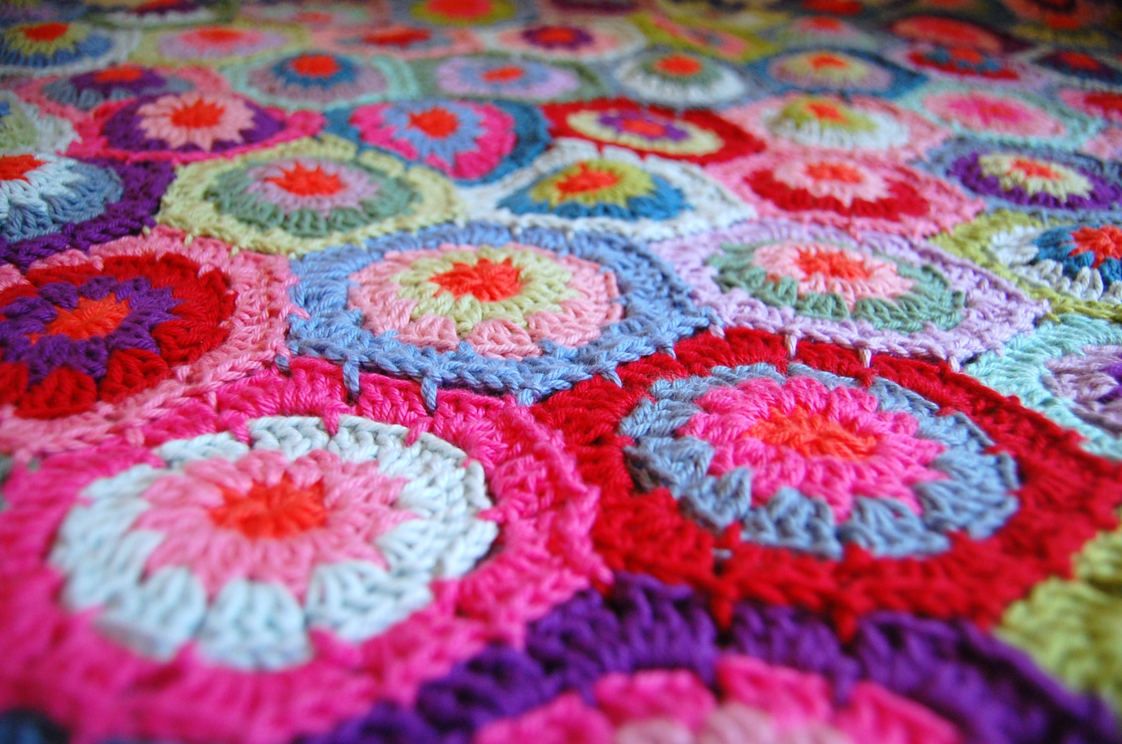 Free Crochet Hexagon Hippo Pattern : Crochet Hexagon Blanket is Finished!