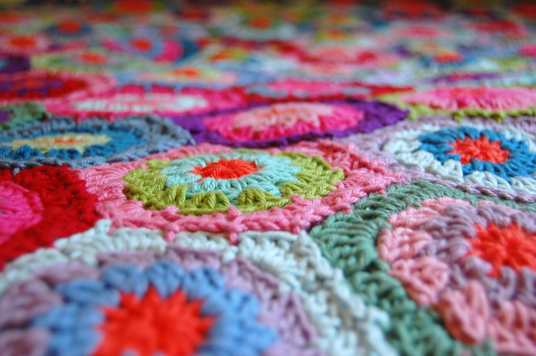 Crochet Hexagon Blanket Is Finished