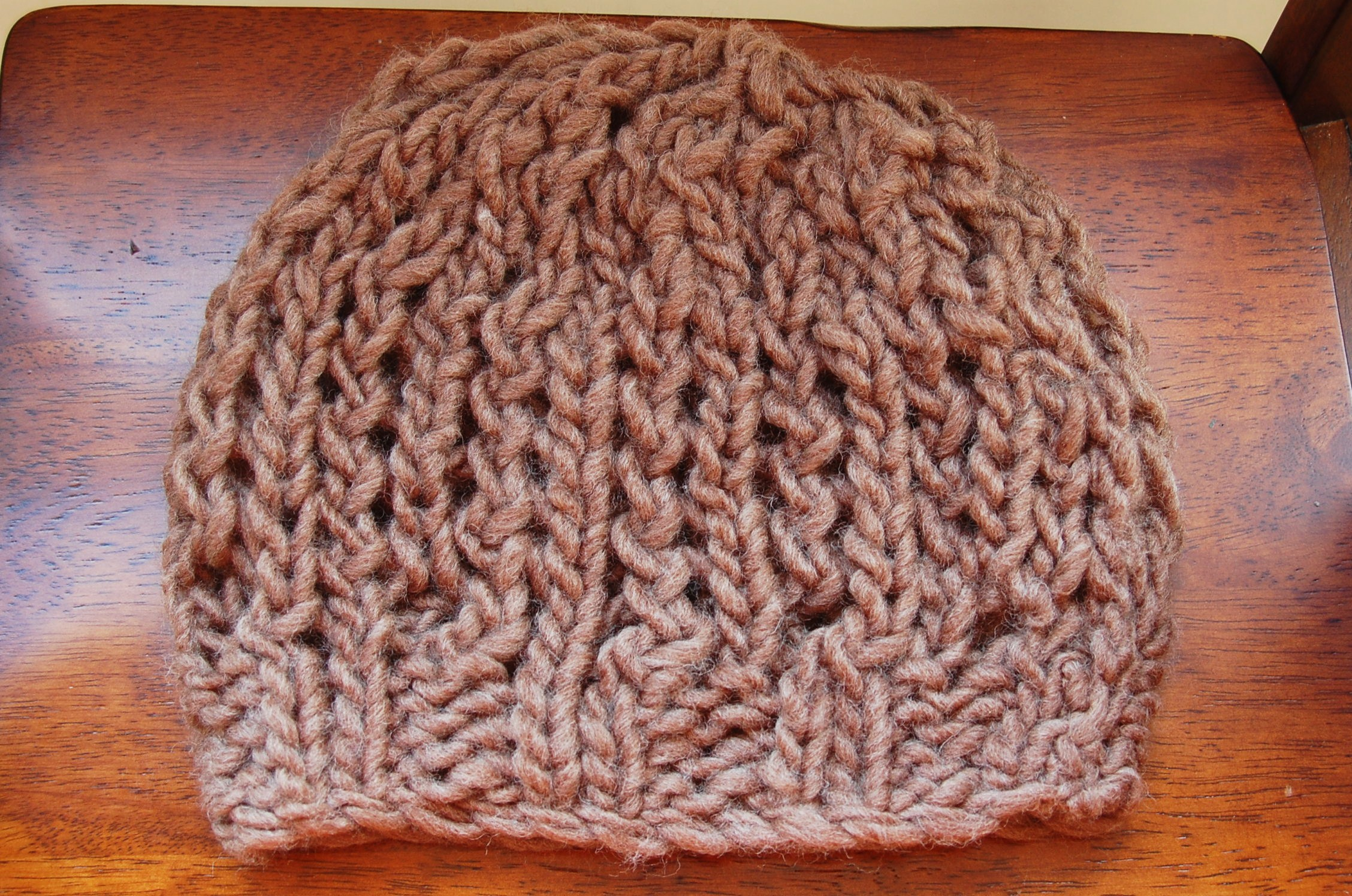 Chunky Knit Fall Hat Free Pattern Open Lace Design By