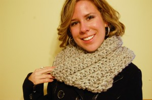 Crochet Wheat Cowl