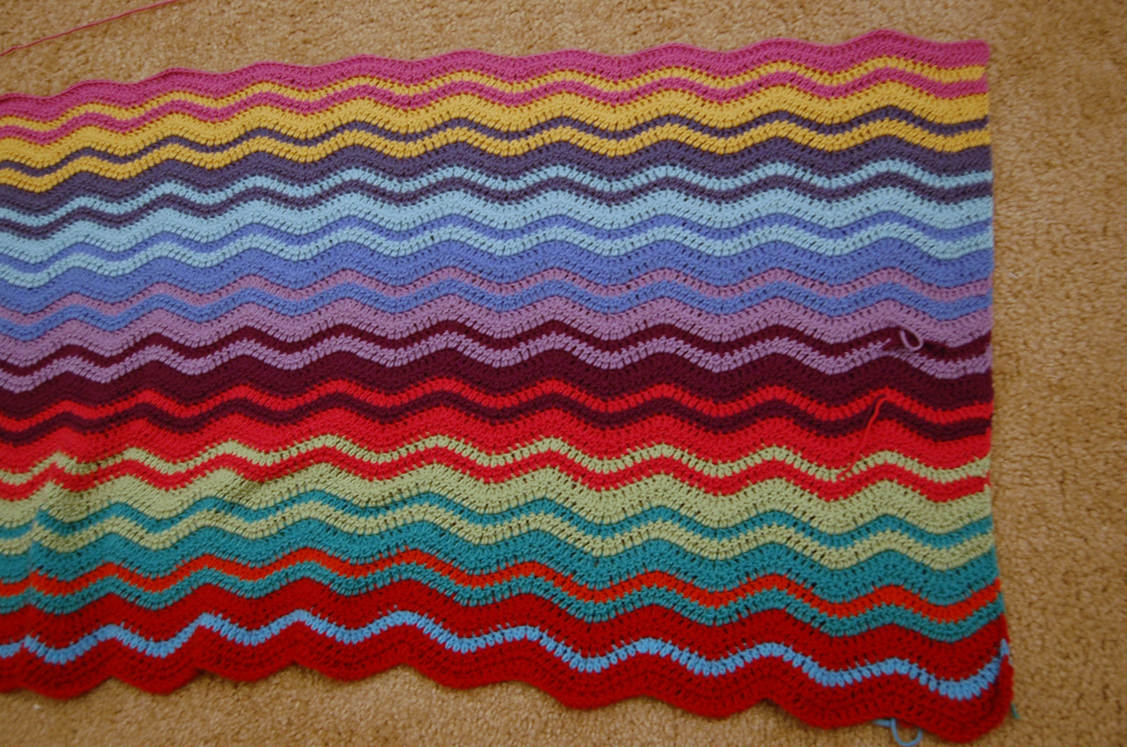 """I'd Like Toe Up With A Creative Name For This Blanket €� Something More  Original Than €�the Ripple Afghan"""" Anyone Have A Suggestion?"""