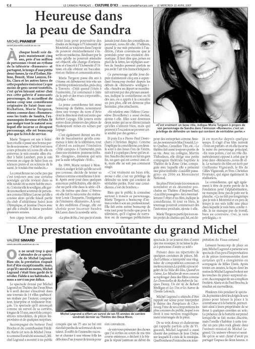 Marie Turgeon ©CanadaFrancais2007page2
