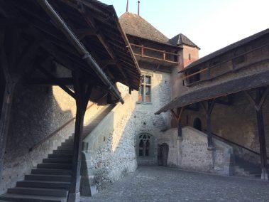 Château de Chillon courtyard