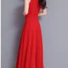 Image_Popjulia_v_neck_women_dress_red_backside
