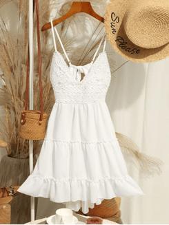 Image_Zaful_Crochet_ Panel_ Cami_ Flare_ Dress_1