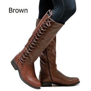 Image_Berrylook_Outdoor_knee_high_boots_ brown_sidelook