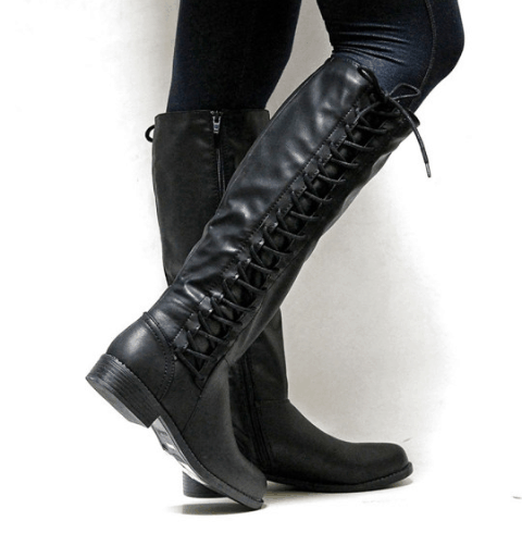 Image_Berrylook_Outdoor_knee_high_boots_ black