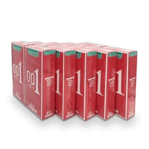 Okamoto 岡本 0.01 安全套 10盒 戰神套裝