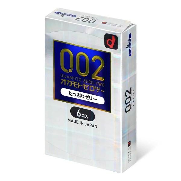 Okamoto岡本 0.02 潤滑劑加量水性聚氨酯 6 片裝(日本版)