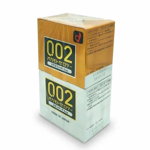 岡本 0.02 真貼身 + 標準 水性聚氨酯 6 片裝(日本版)