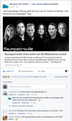 Die Bavaria Film GmbH hat den Scherz geteilt. Danke dafür! :D