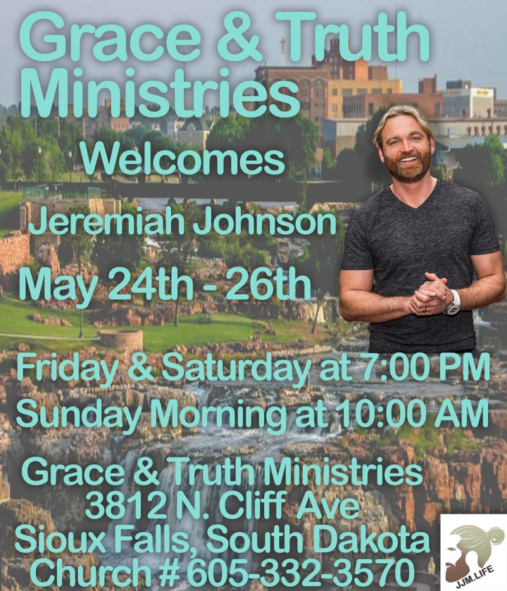 Jeremiah Johnson in Sioux Falls May 24th-26th, 2019