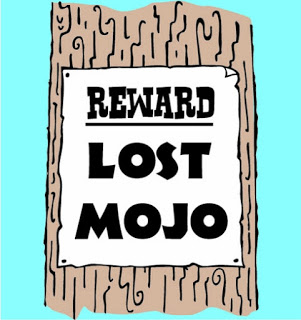 Running Mojo Lost reward poster on a tree. I have lost my running Mojo to get me back running after london marathon.