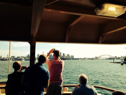 City view from Manly ferry