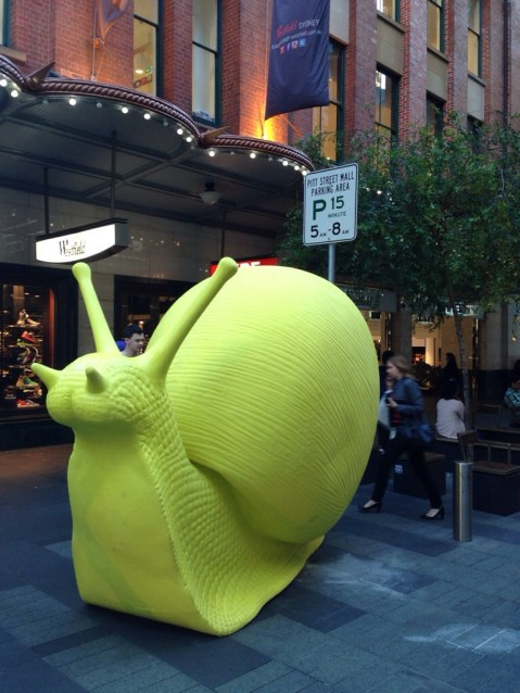 """Giant snail, everywhere in the city for the event """"Art & About"""" this weekend"""