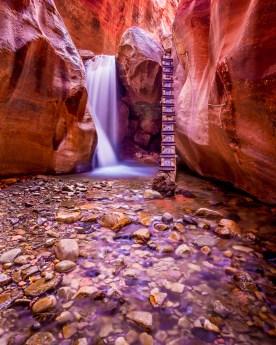 Slot Canyon Falls - Kanarra Creek Canyon, UT © jj raia