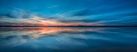 Pastel Sunset Panorama —Jordan Lake, NC © jj raia