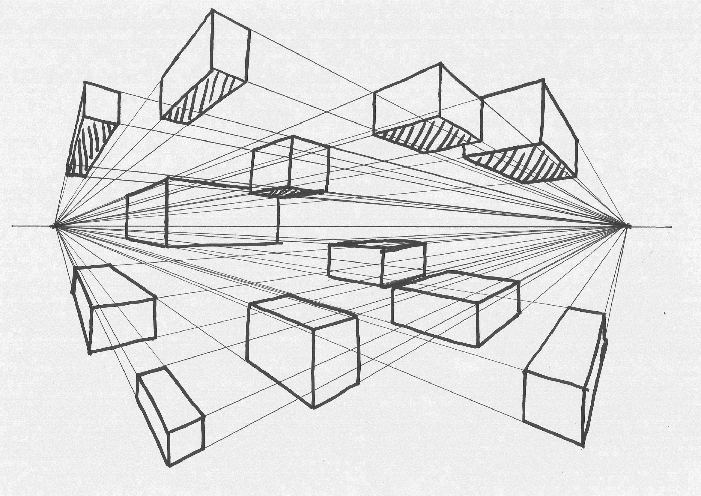 Drawing Perspective Two Point Perspective
