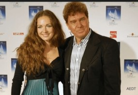 Dominique mit Vater Frank Schöbel