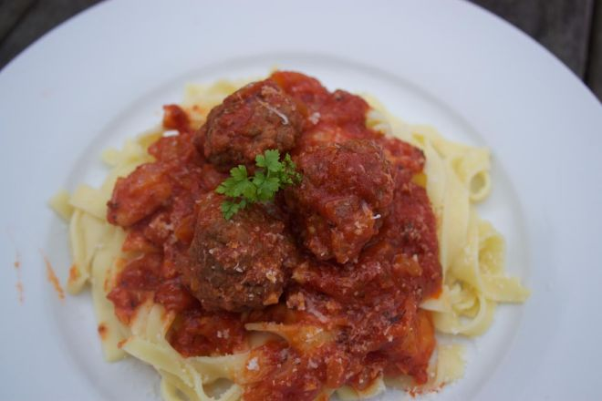 braised beef meatballs