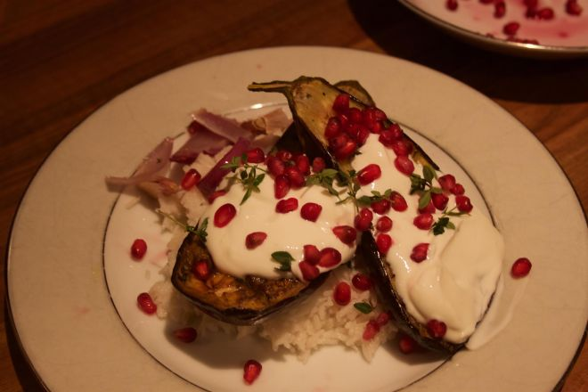aubergines in buttermilk