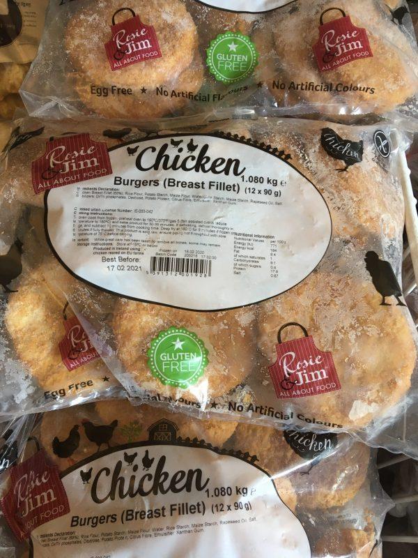 1kg chicken burgers (12 x 90g)