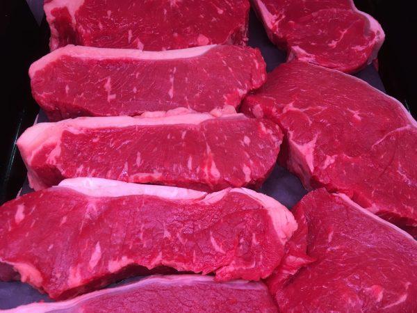 Prime Irish beef black angus striploin steak