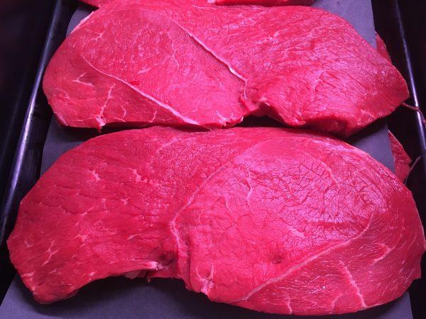 Prime Irish black angus round steak