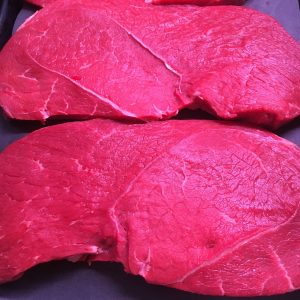 Prime Irish black angus round steak